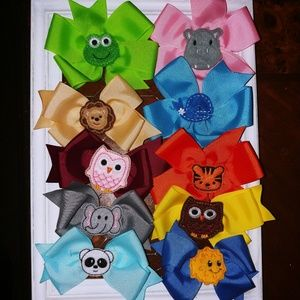 New Cute Animal Faces Hairbows